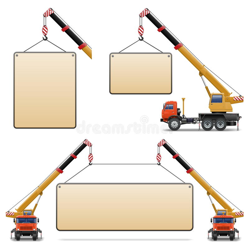 Download Vector Construction Machines Set 6 Stock Vector - Illustration of crane, inscription: 33478903