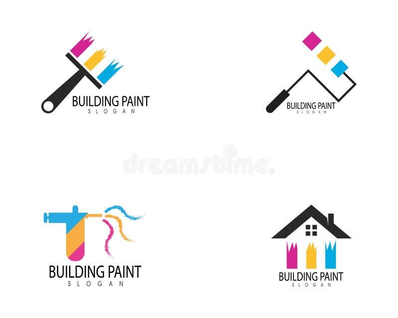 Vector constructivo del logotipo del icono de la pintura libre illustration