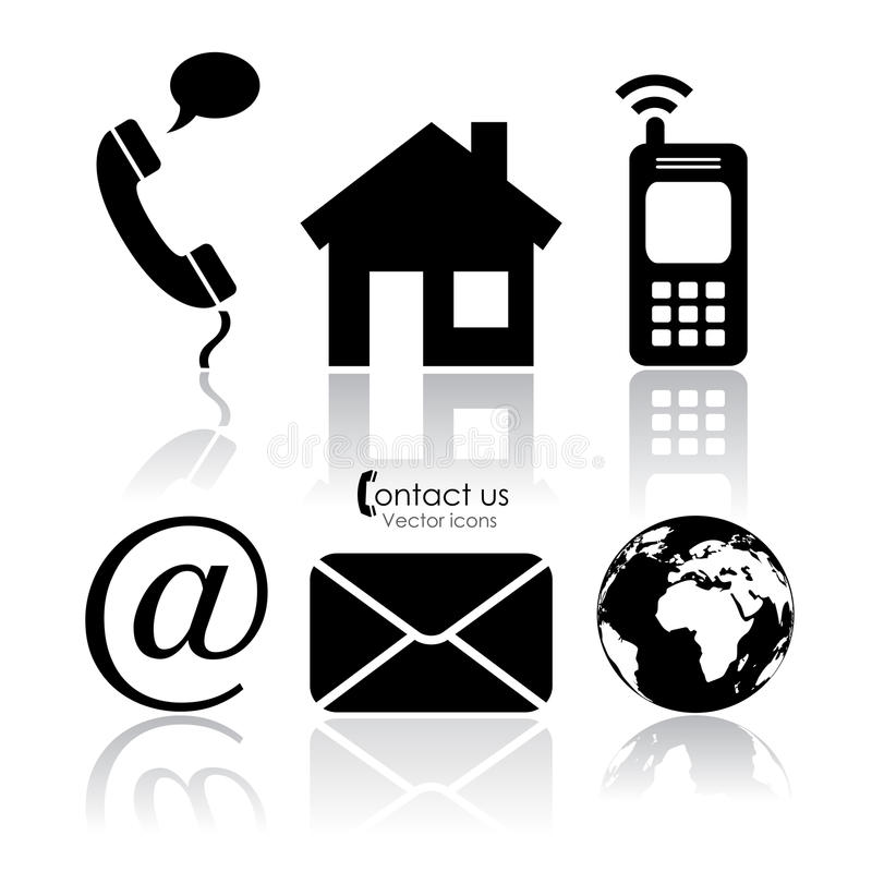 Free Vector Contact Icons Stock Photo - 30140000