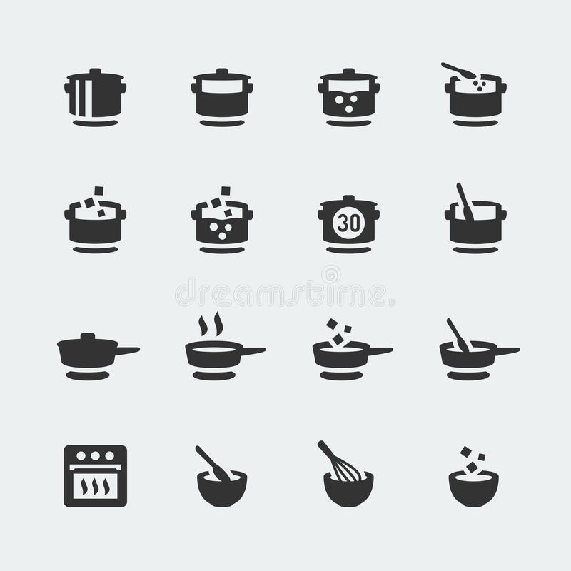 Vector cooking icons set stock illustration