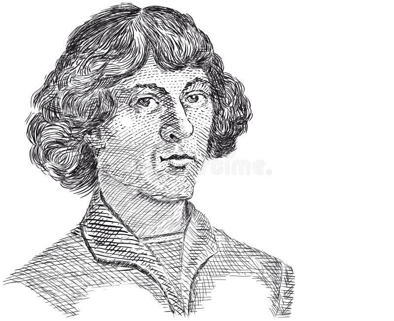 Vector - Copernicus Nicolaus royalty-vrije illustratie