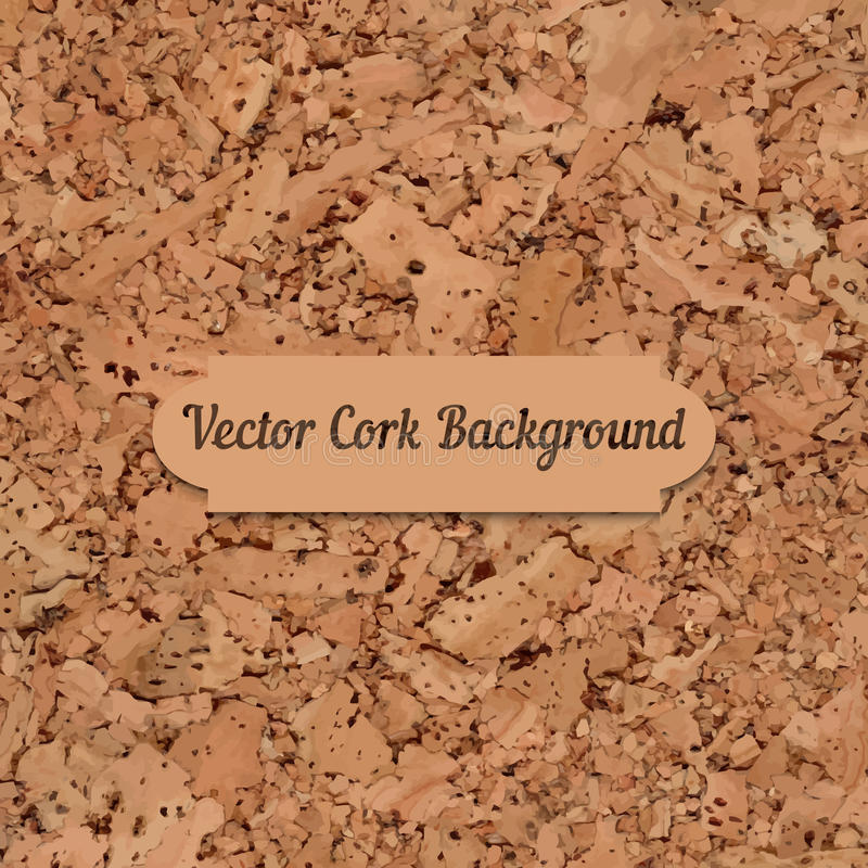 Vector cork board texture vector illustration