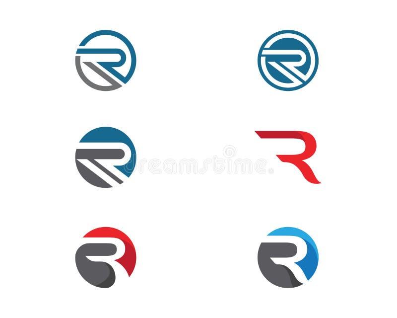 Vector corporativo del diseño del logotipo del negocio R libre illustration
