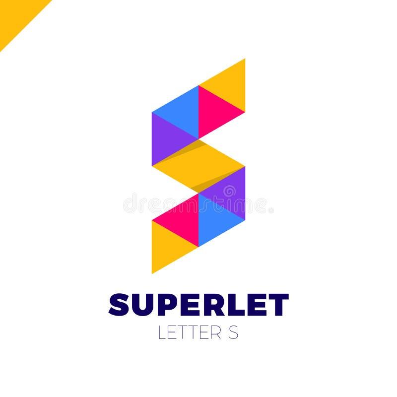 Vector corporativo y colorido del negocio de la letra S del logotipo del diseño para la tecnología libre illustration