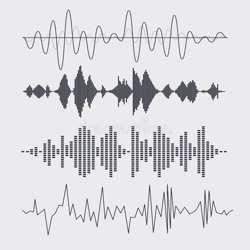 Vector correcte geplaatste golven Muziek Vector royalty-vrije illustratie