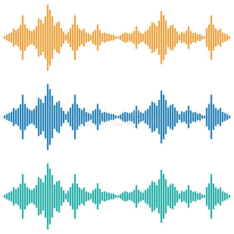 Vector correcte golven Muziek Digitale Equaliser Audiotechnologie vector illustratie