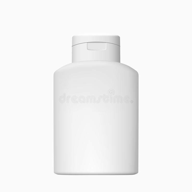 Vector cosmético de la botella aislado foto de archivo libre de regalías