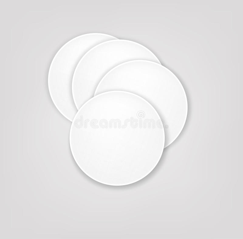 Vector cotton pads. The vector cotton pads isolated stock illustration