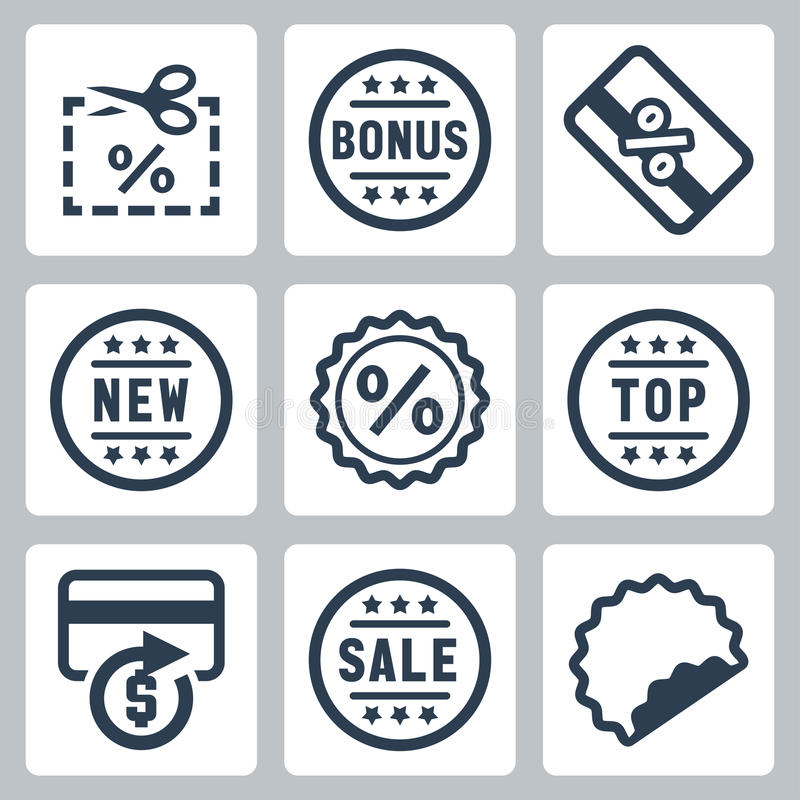 Free Vector Coupon And Discount Related Icons Stock Photo - 42805940