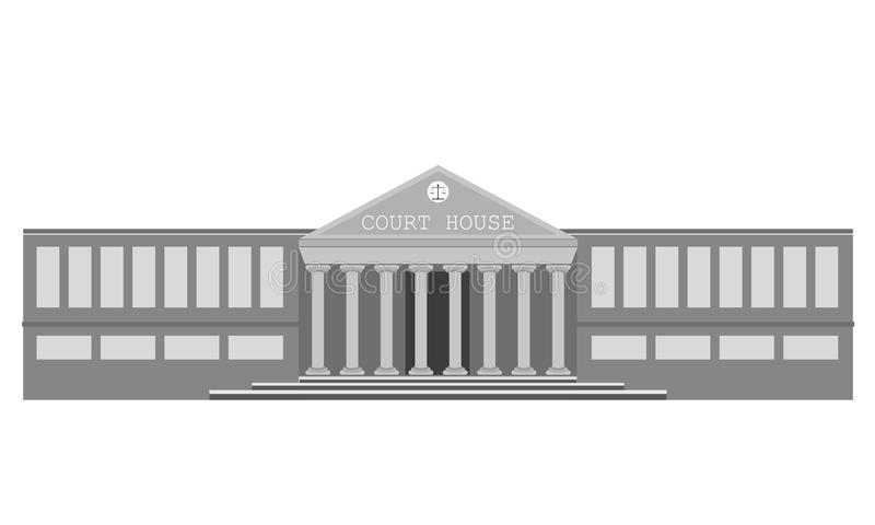 Vector court building. Vector illustration of court building, house of justice vector illustration