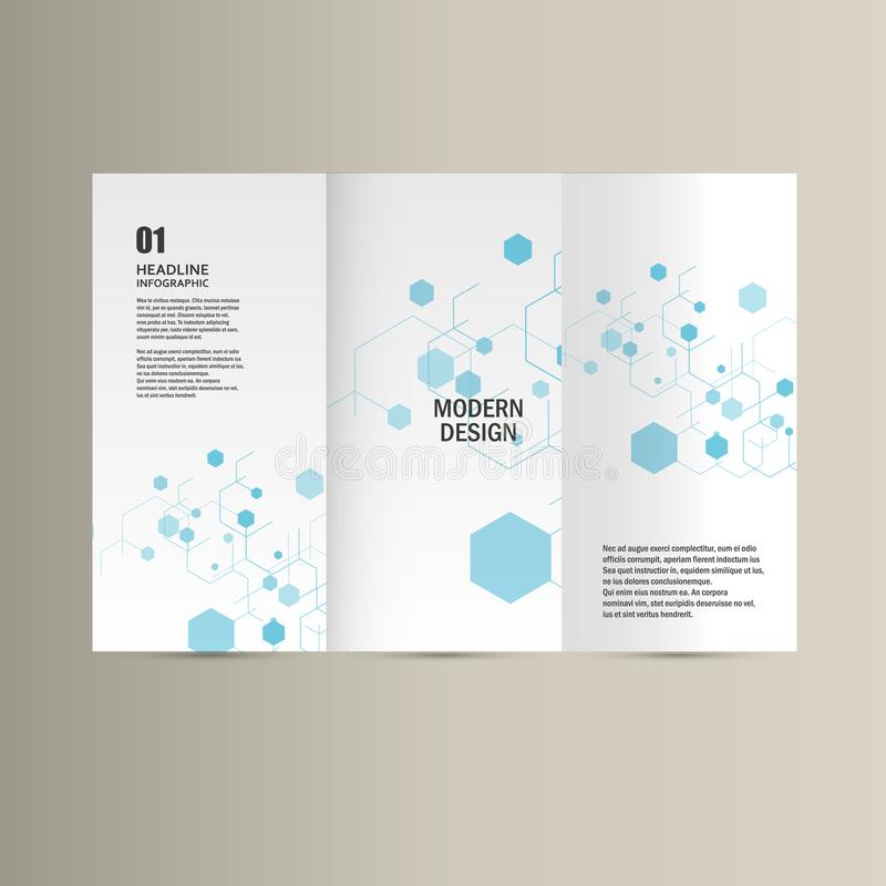 Vector cove network hexagon connection background royalty free illustration