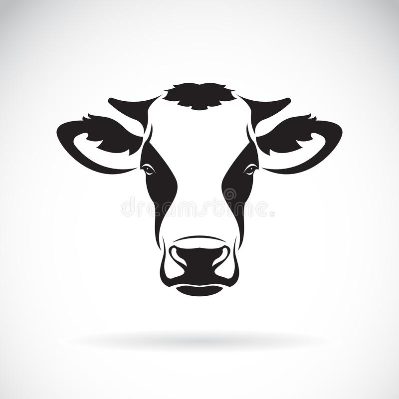 Vector of a cow head design on white background. Farm Animal. Ea. Sy editable layered vector illustration royalty free illustration