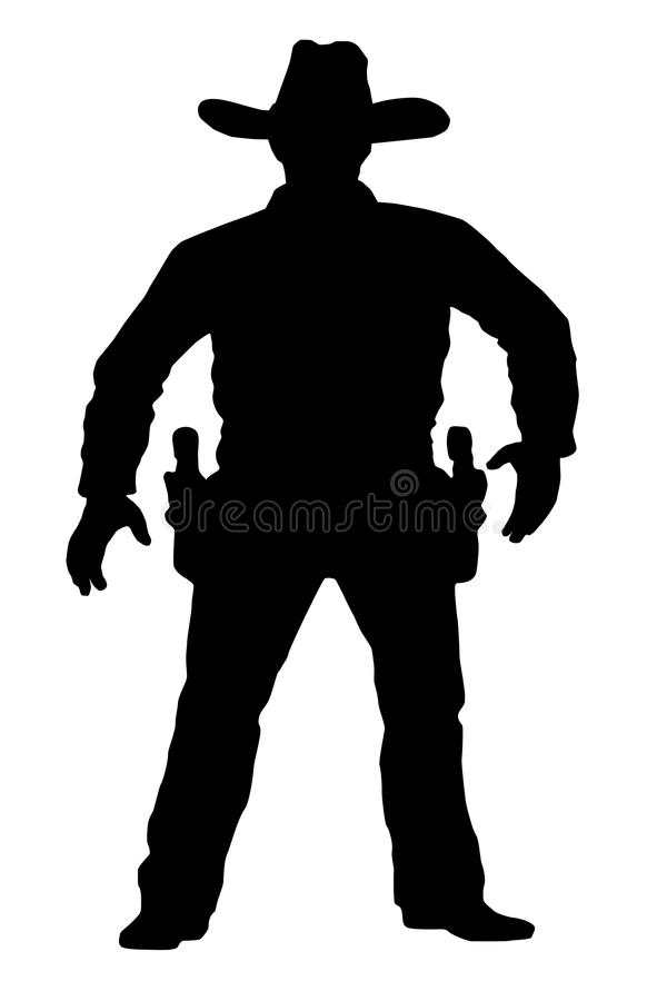 Download Vector Cowboy Is In Full Growth. Target Shooting. A Man With A Gun On A White Background. Duel On The Revolver Stock Vector - Image: 83720253