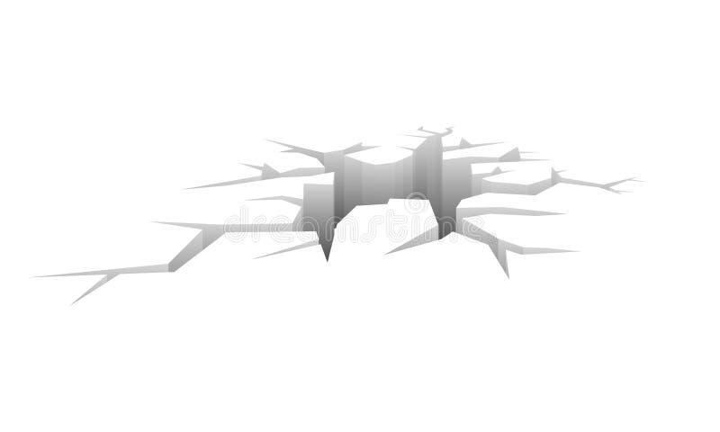 Vector crack stock illustration
