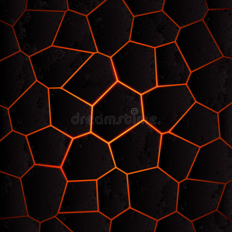 Vector cracked ground and lava. Abstract background with cracked ground and lava. Eps 10 vector illustration