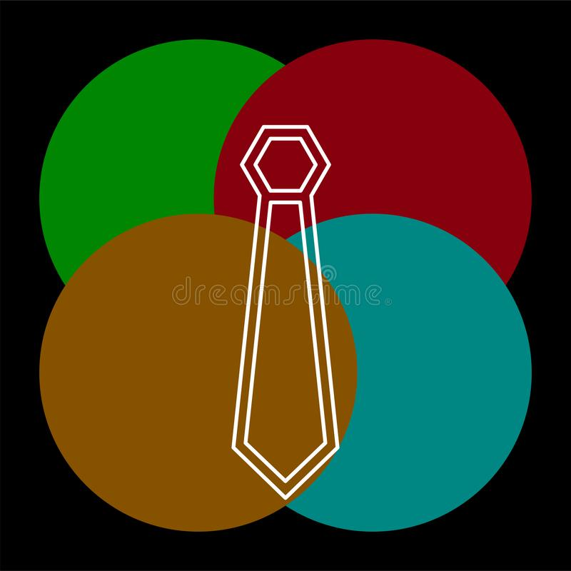 Vector cravat icon tie illustration. fashion wear royalty free illustration