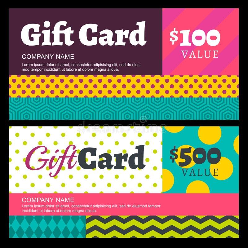 Vector creatief giftkaart of bonmalplaatje als achtergrond Multic royalty-vrije illustratie