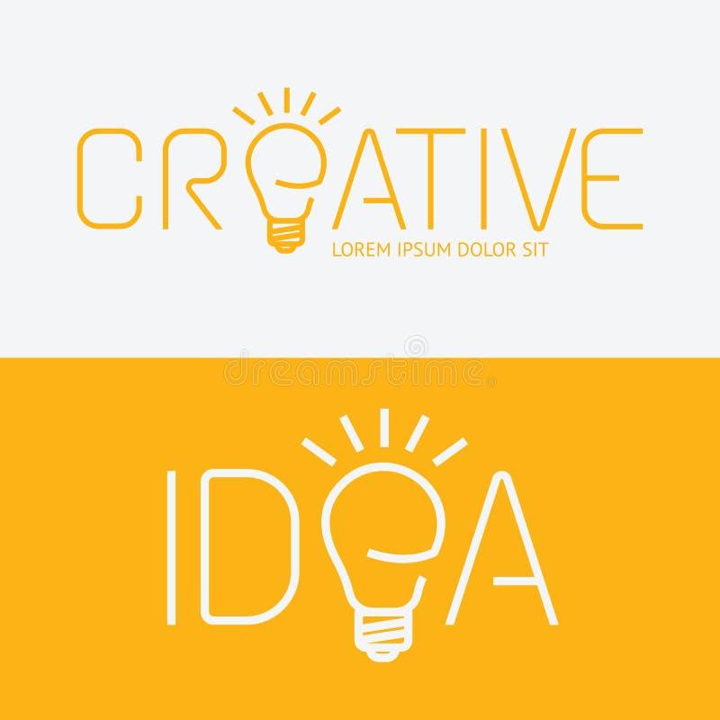 Vector creatief het ideeconcept van het alfabetontwerp met vlak tekenpictogram royalty-vrije illustratie