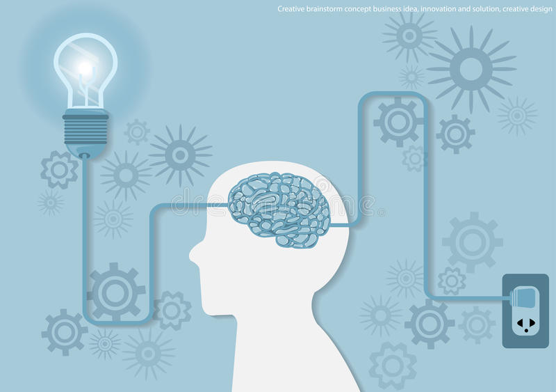 Vector Creative brainstorm concept business idea, innovation and solution, creative design flat design. Vector Creative brainstorm concept business idea vector illustration