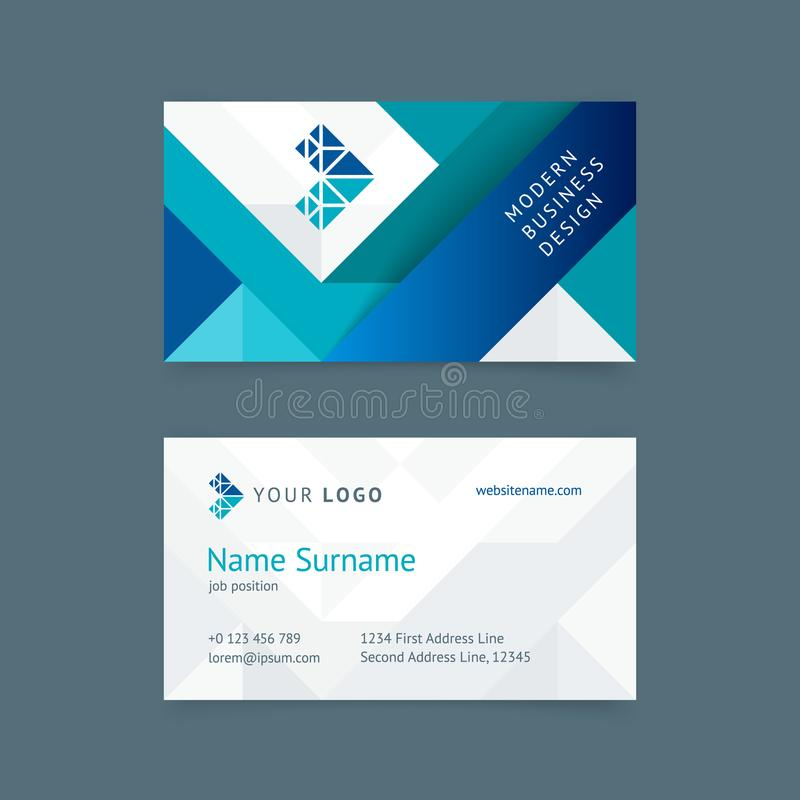 Vector creative business card template stock illustration