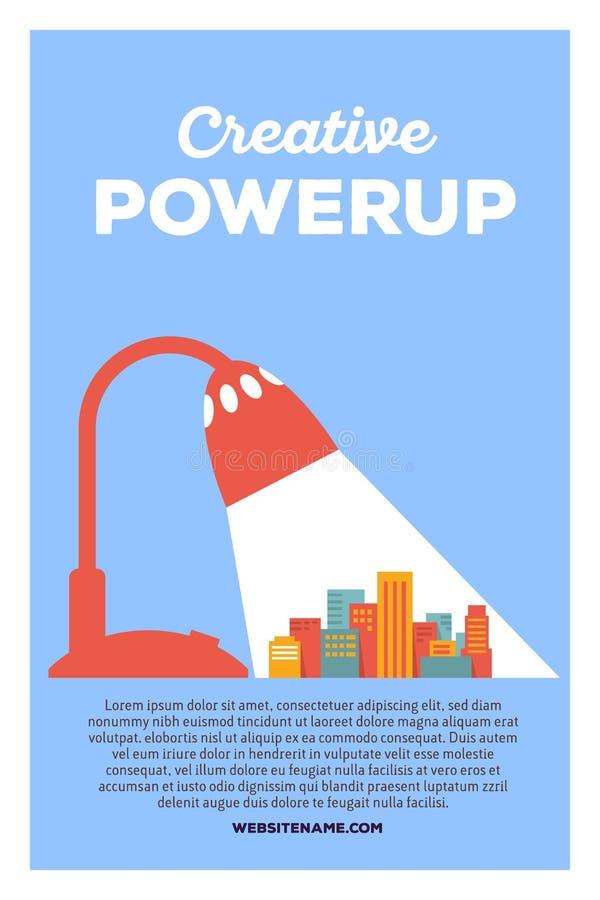 Vector creative colorful illustration of modern bright big city royalty free illustration