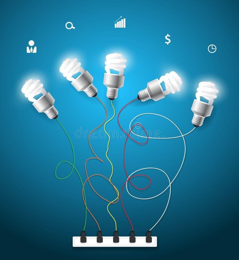 Vector creative light bulbs ideas concept vector illustration