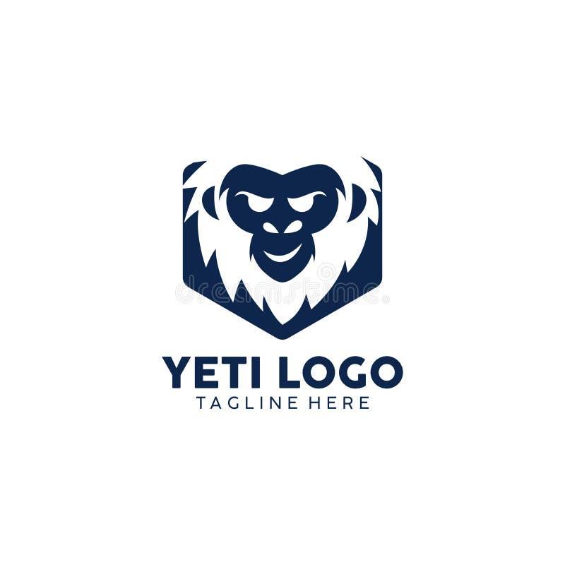Vector creativo Art Logo del diseño del logotipo del yeti ilustración del vector
