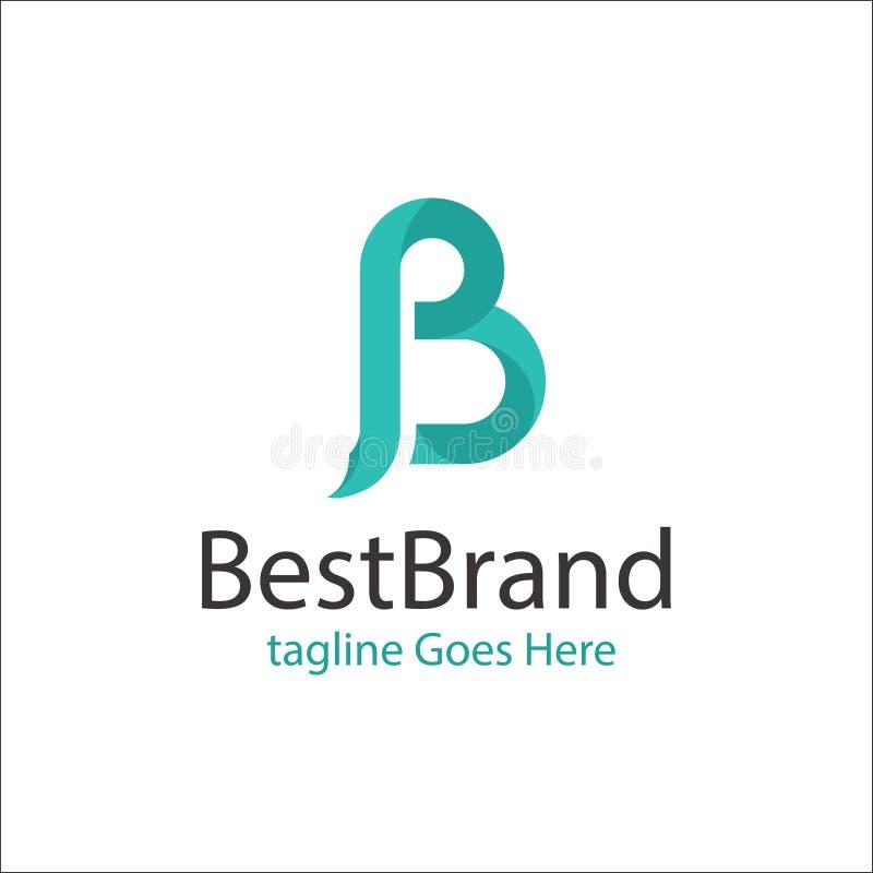 Vector creativo del logotipo de la letra de B ilustración del vector