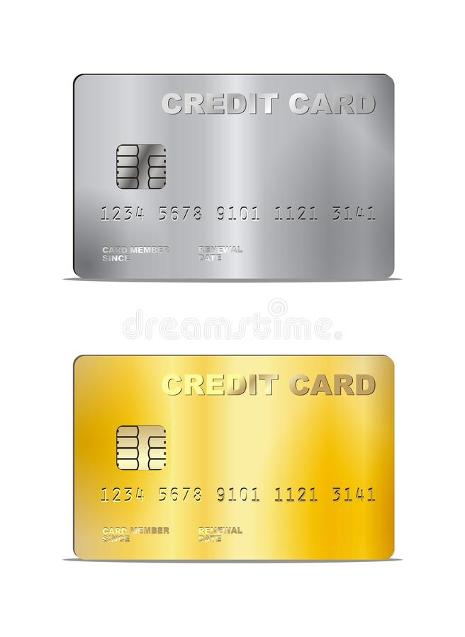 Free Vector Credit Card Illustration Royalty Free Stock Photography - 44150397