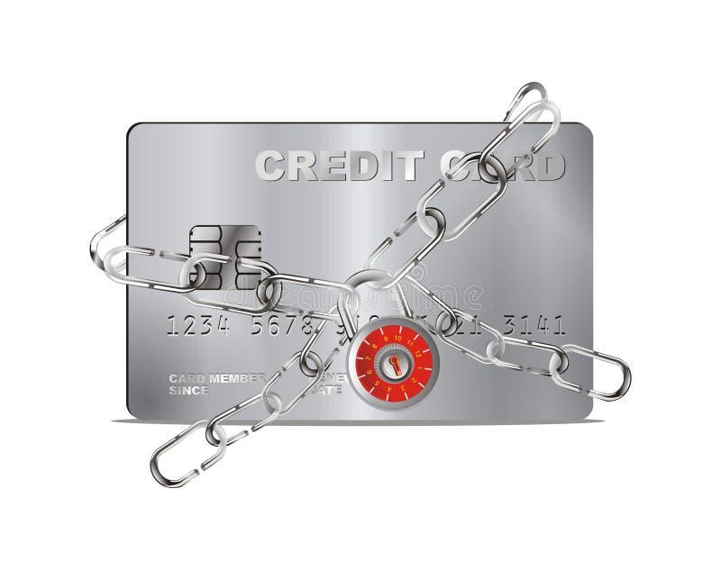 Vector credit card security lock stock illustration