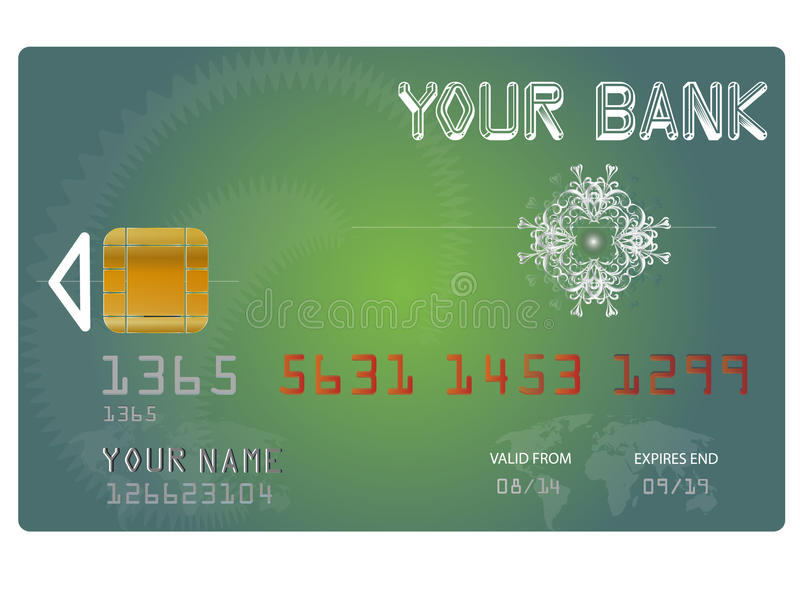 Vector Credit Card royalty free illustration