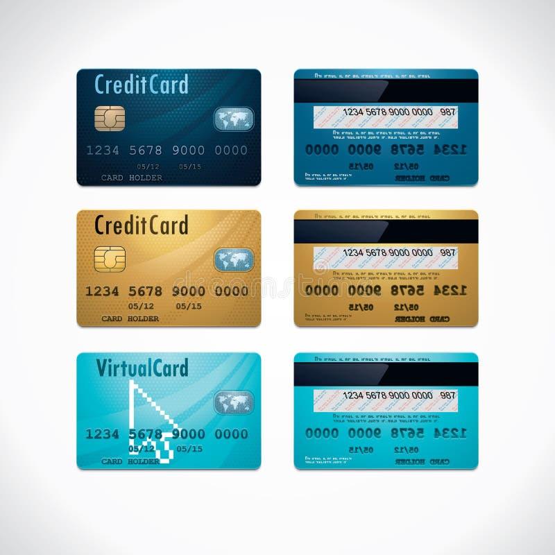 Vector creditcards stock illustratie