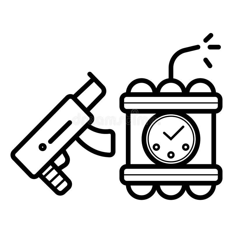 Vector criminal del icono libre illustration