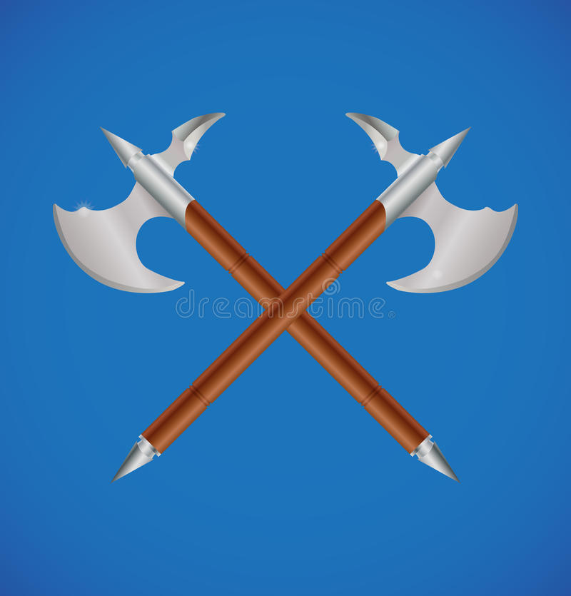 Download Vector Crossed Battle Axes Royalty Free Stock Photo - Image: 25446235