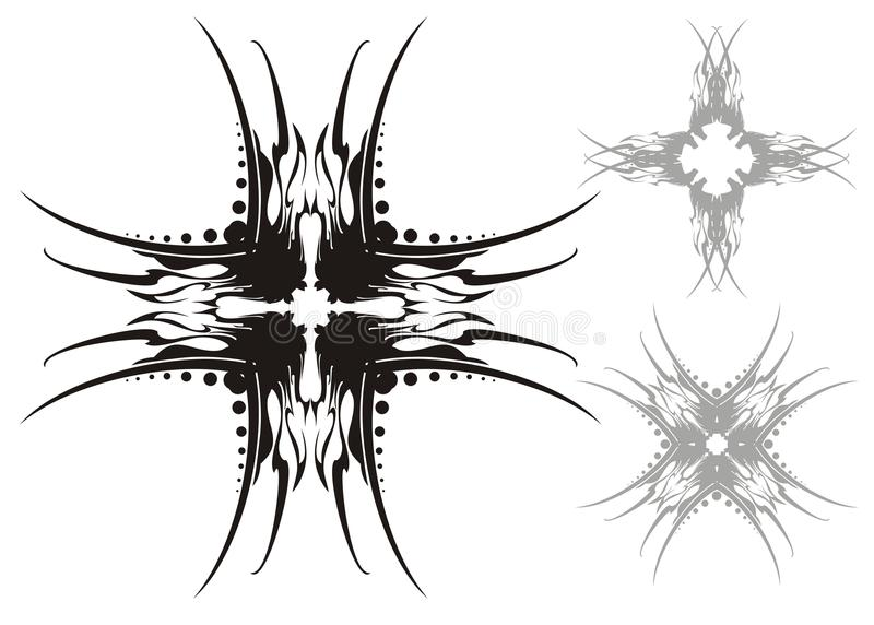 Vector crosses stock illustration