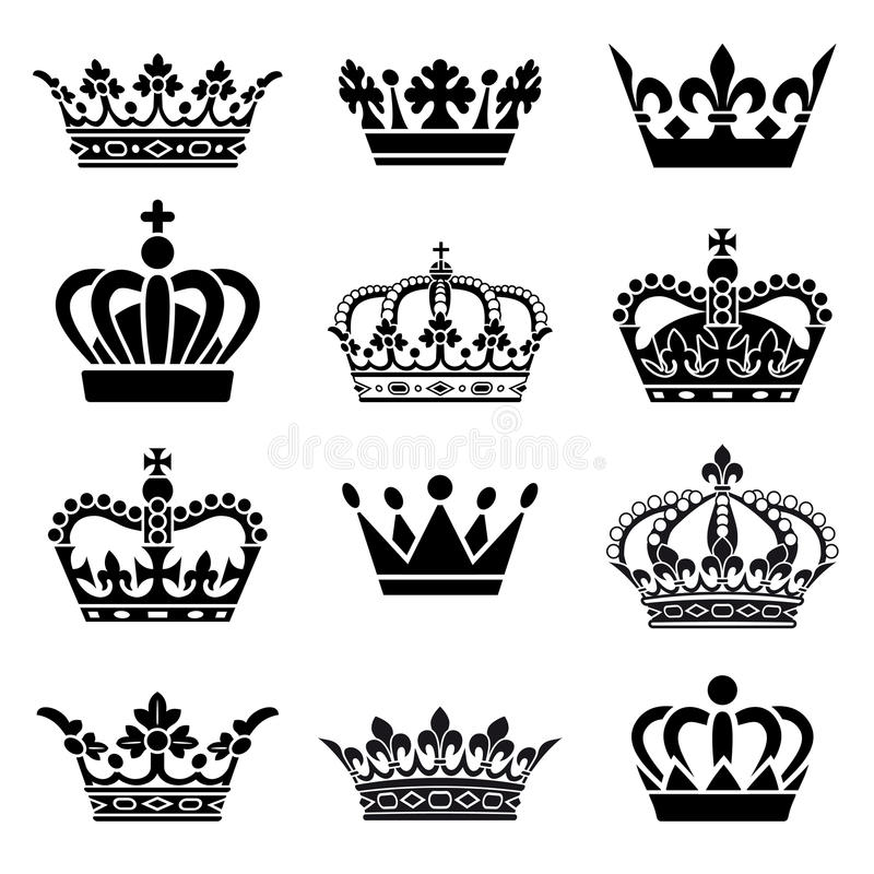 Free Vector Crown Set Royalty Free Stock Photography - 38354177