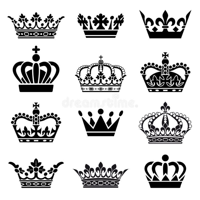 Vector Crown Set vector illustration