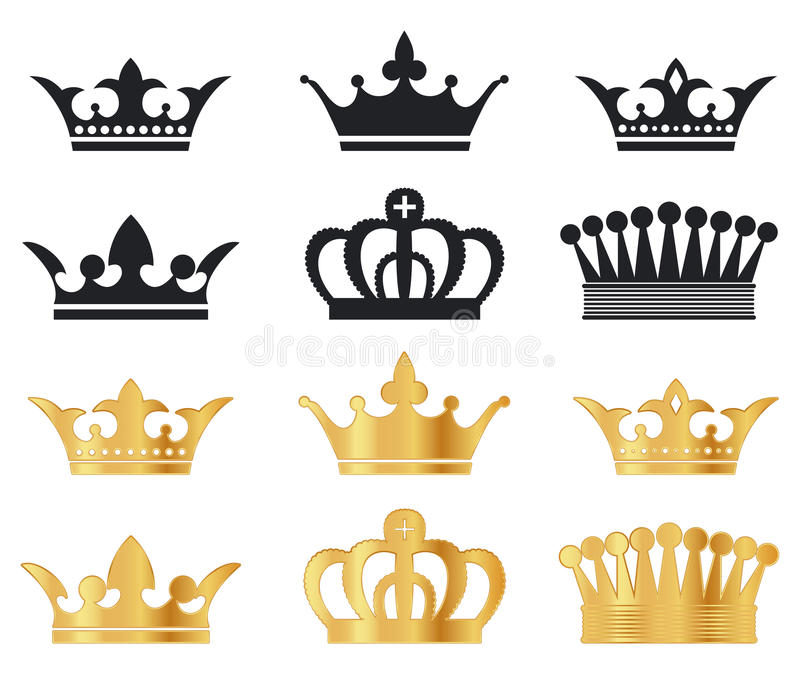 Download Vector Crowns stock vector. Illustration of design, simplicity - 20406185