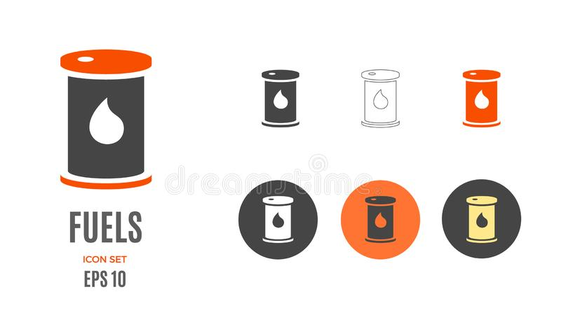 Vector crude oil fuels infographic template. Color icon for your illustration or presentation. Vector crude oil infographic template. Color fuels icon sign royalty free illustration