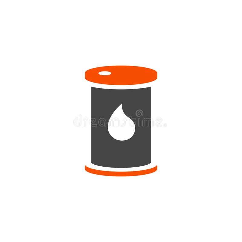 Vector crude oil fuels infographic template. Color icon for your illustration or presentation. Vector crude oil infographic template. Color fuels icon sign stock illustration
