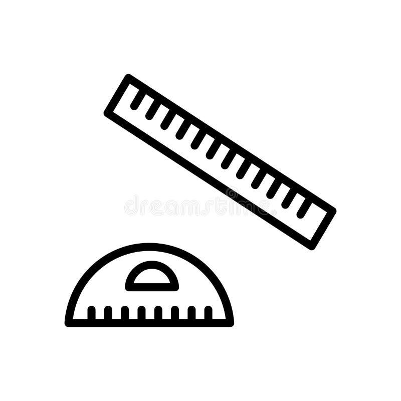 Vector cuadrado fijado del icono aislado en elementos del fondo blanco, de la muestra cuadrada determinada, de la línea y del esq stock de ilustración