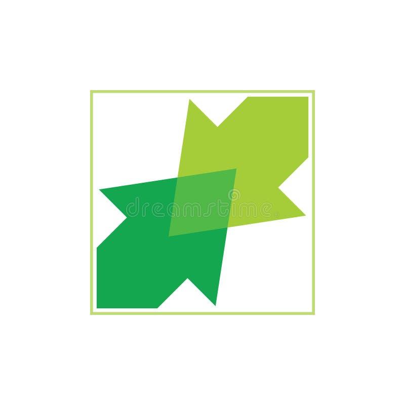 Vector cuadrado ligado del logotipo de la pendiente de la flecha ilustración del vector