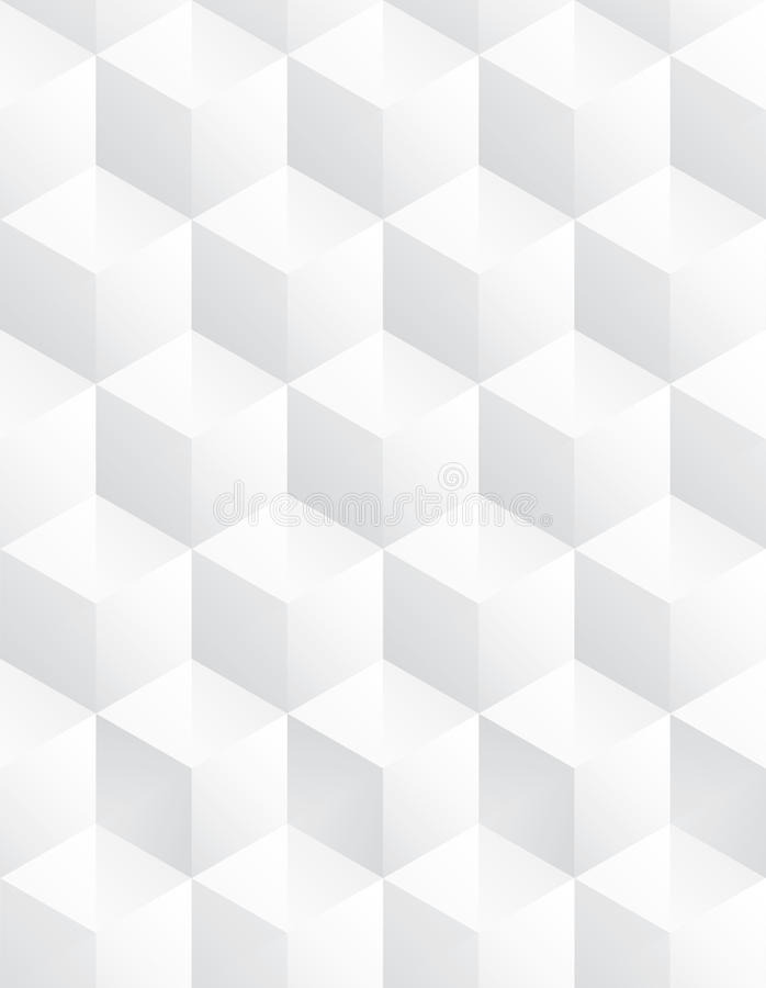 Vector cube gray background pattern royalty free illustration