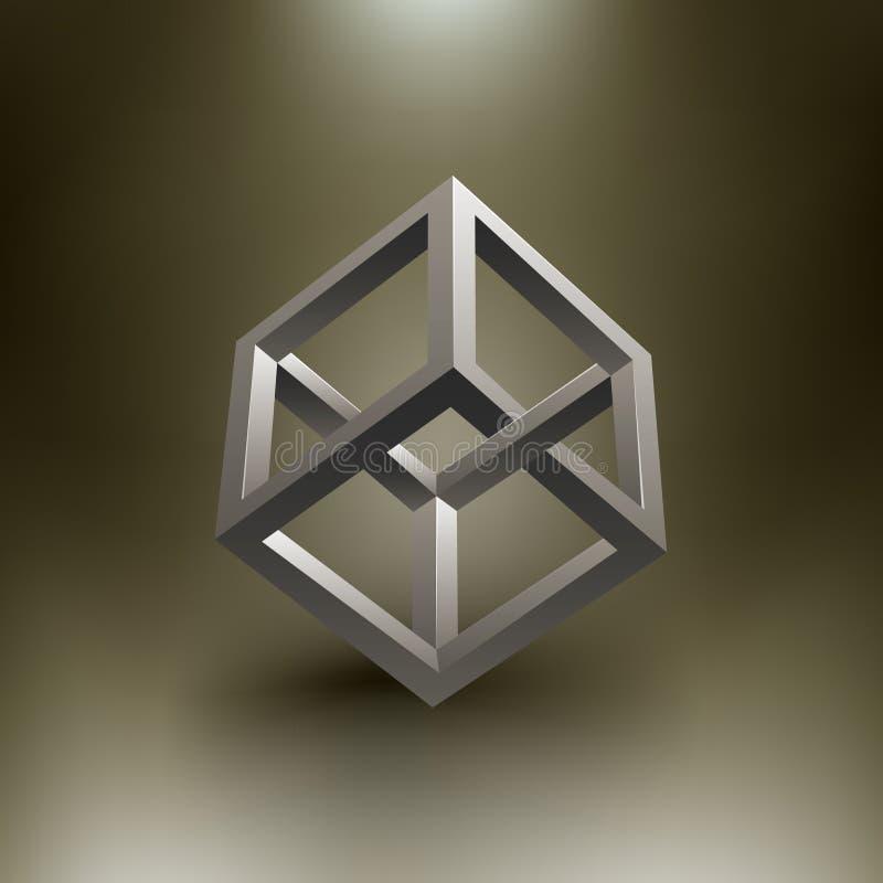 Download Vector Cube Illusion stock vector. Illustration of fantasy - 22025537