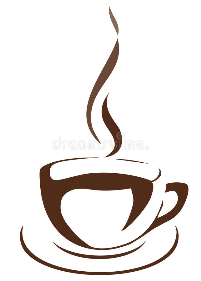 Vector cup of coffee royalty free illustration