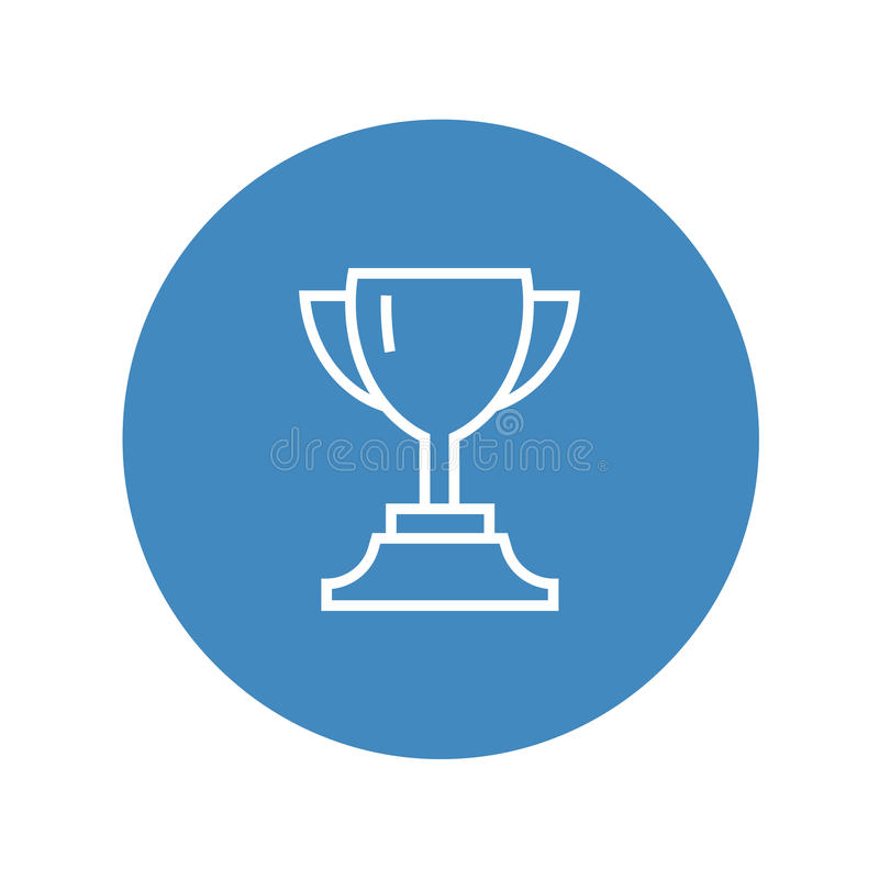 Download Vector Cup Thin Line Winner Trophy Icon White Isolated