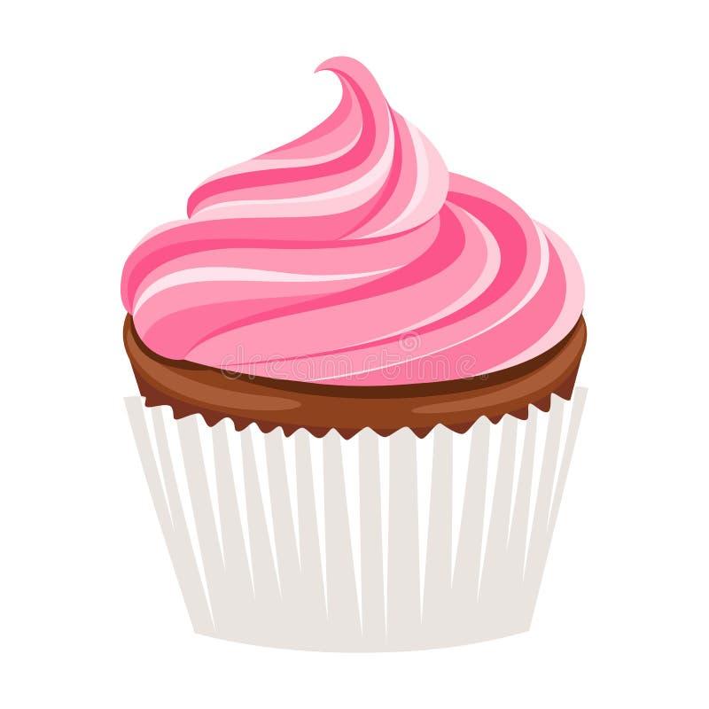 Vector cupcake royalty free illustration