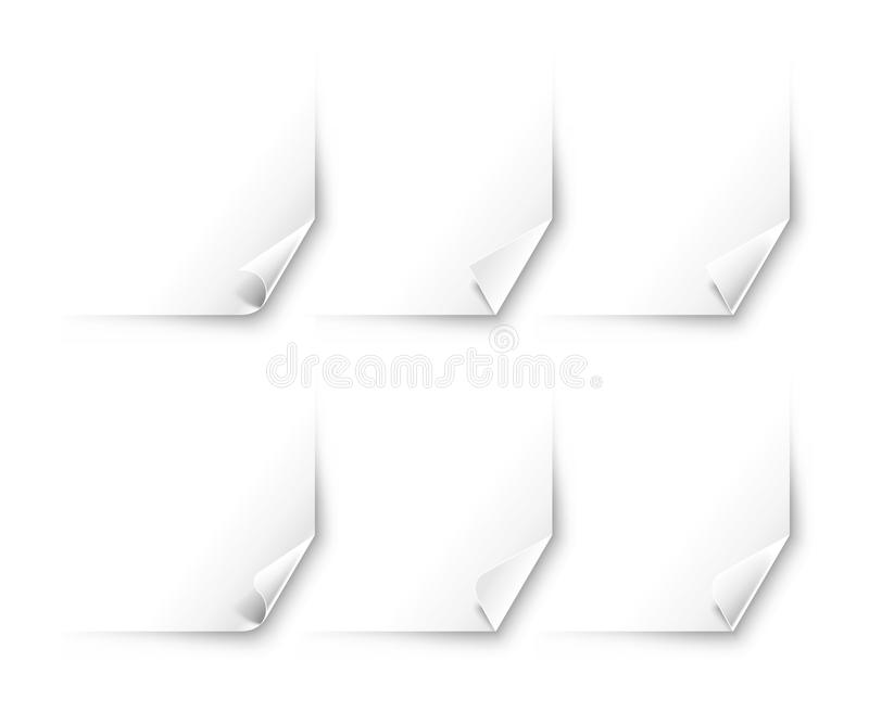 Vector curled corner of paper royalty free stock images