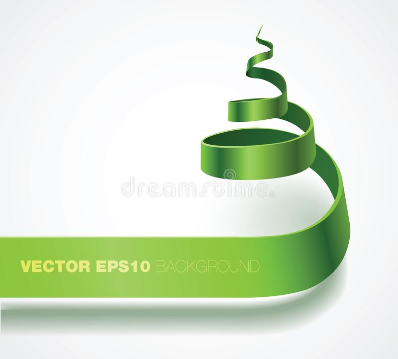 Curling Christmas Tree Shape stock illustration