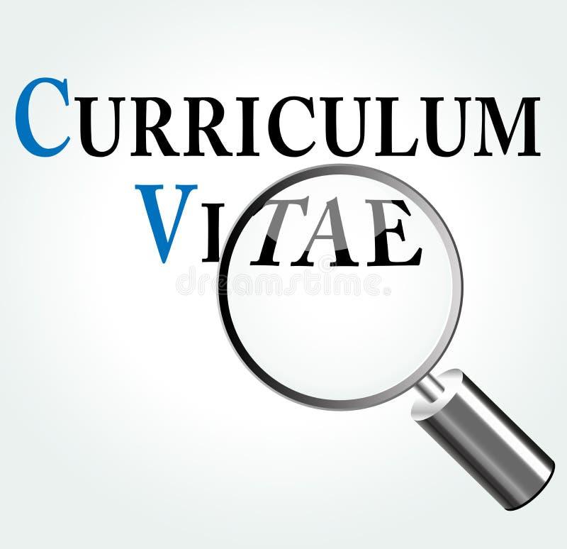 vector curriculum vitae concept stock vector